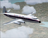 Screenshot of Philippine Air Lines Viscount 784 in flight.