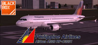 Screenshot of Philippine Airbus A320-200 on runway.