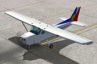 Screenshot of Philippine Airlines Cessna 172 on the ground.