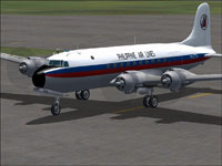 Screenshot of Philippine Airlines DC-4 on the ground.