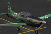 "Screenshot of Pilatus P-7 ""Viper"" on the ground."