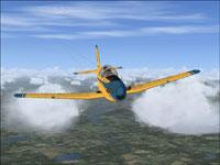 Screenshot of Pilatus PC-7 in flight.