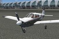 Screenshot of Piper Cherokee 180 G-WARW on the ground.