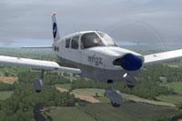 Screenshot of Piper Cherokee 180 HB-PMT in flight.