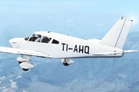 Screenshot of Piper Cherokee 180 TI-AHQ in flight.