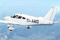 Screenshot of Piper Cherokee 180 TI-AHQ in flight.