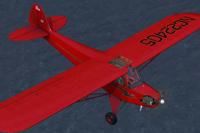 Screenshot of Piper Cub J-3 NC22405 in flight.