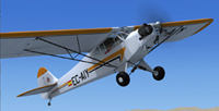 Screenshot of Piper J-3 Cub EC-AIY in flight.