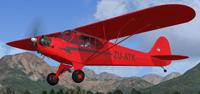 Screenshot of Piper J-3 Cub ZU-AYK in the air.