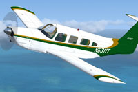 Screenshot of Piper Lance II in flight.