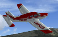 Screenshot of Piper P28A Warrior in flight.