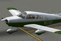 Screenshot of Piper PA-28 Archer on the ground.