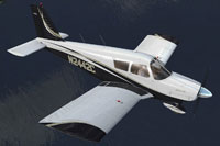 Screenshot of Piper PA-28 Cherokee N2442C in flight.