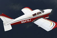 Screenshot of Piper PA-28 Cherokee N9476J in flight.