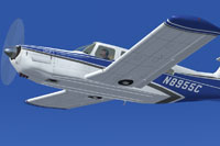Screenshot of Piper PA-32RT-300 Lance II in flight.