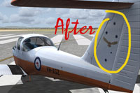 Screenshot showing corrected textures on Piper PA38 Tomahawk.