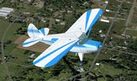 Screenshot of Piper Pacer CF-GYA in flight.