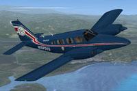 Screenshot of Piper Seneca MSP016 in flight.