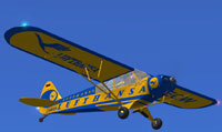 Screenshot of Piper Super Cub L-18 D-EEQW in flight.