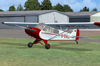 Screenshot of Piper Super Cub D-ENLL on the ground.