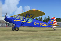 Screenshot of Piper Super Cub PA-18-95 L-18C on the ground.