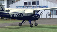 Screenshot of Piper Tri Pacer PA20 D-ECCA on the ground.