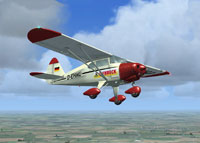 Screenshot of Piper Tri Pacer PA22 D-EHMU in flight.