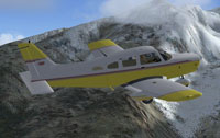 Screenshot of Piper Warrior Turbo in flight.