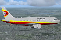 Screenshot of Platinum Airways Airbus A318-100 in flight.