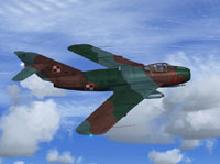 Screenshot of Poland Air Force MiG-17Lim5 in flight.
