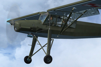 Screenshot of Polish Fi156 Storch ZKR in flight.