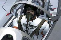Screenshot of pilot wearing Breitling T-Shirt.