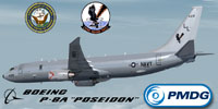 Screenshot of US Navy Boeing P-8A Poseidon with corrected textures.