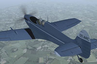 Screenshot of Spitfire OO-ARC in flight.