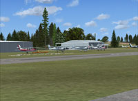 Screenshot of Potomac Airfield scenery.