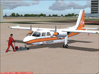 Screenshot of Prinair Britten Norman BN-2 Islander on the ground.