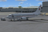 Screenshot of Private Boeing 737-700 NGX N43PR on the ground.