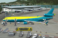 McDonnell Douglas MD-11 ready for boarding.