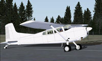 Screenshot of Cessna C185 on runway.