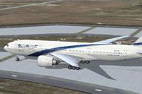 Screenshot of Project El Al Boeing 777-258ER taxiing to runway.