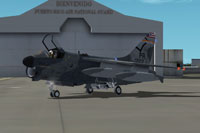Screenshot of A-7D Corsair II 198TFS on the ground.