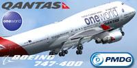 Screenshot of Qantas 'One World' Boeing 747-400.