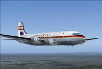 Screenshot of Qantas Airways Douglas DC-4 in flight.