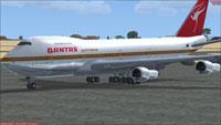 Screenshot of Qantas Boeing 747-200 on the ground.