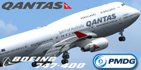 Screenshot of Qantas Boeing 747-400 VH-OEG.
