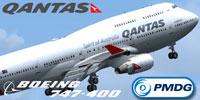 Screenshot of Qantas Boeing 747-400 VH-OEG.