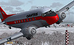 Screenshot of Qantas Douglas DC-3 in flight.