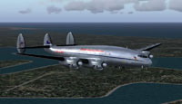 Screenshot of Qantas Empire Airways Lockheed L-749 in flight.