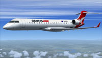 Screenshot of Qantas Link CRJ700 in flight.