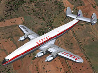 Screenshot of Qantas Lockheed L-1049G in flight.